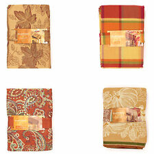 Harvest Season Fall Autumn Thanksgiving Seasonal Tablecloth - Oblong or Round