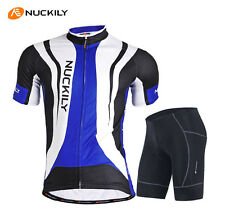Men Cycling Jersey Bike Padded Shorts Bicycle Wear Cycle Uniforms Clothing Blue