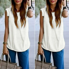 Fashion Women Ladies Vest Sleeveless Shirt Blouse Summer Casual Loose Tops