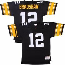 Terry Bradshaw M&N 1976 Pittsburgh Steelers Throwback Black Home Jersey Men's