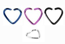 Surgical Steel Daith Tragus Helix Cartilage Heart Earring Ring Stud