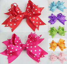 2015 Beautiful 7pcs Girls Baby Large strip Hair Bow Clip flower hairpin CN01