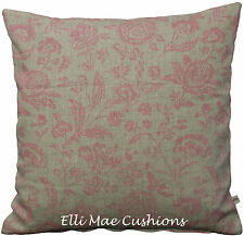 Choux et roses provence toile rose shabby chic lin coussin taie