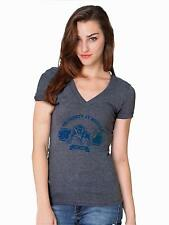 Buffalo SUNY Bulls Womens Short Sleeve Heather Grey V-Neck Shirt Established