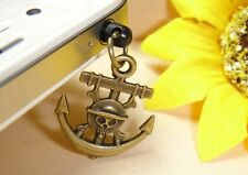 Anchor and Pirate Dustproof Plug Mobile Phone Strap Vintage Bronze Color #12
