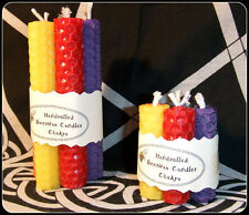 "Chakra Spell Candles 2 sizes 2"" & 4"" Beeswax Handrolled Spell candles Altar Set"