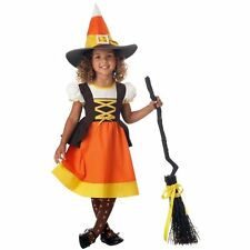 "Brand New CaliforniaCostume ""SWEET TREAT""Toddler Girls Candy Corn Witch Costume"