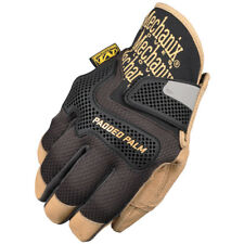 Mechanix Wear Cg Padded Palm Mens Genuine Leather Strong Work Gloves Black Brown