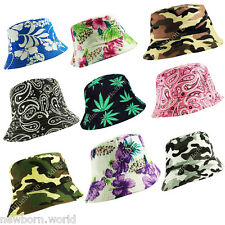 100% Cotton Unisex Adults Bucket Hat- Fishing Summer Beach Boonie Sun Hat Caps