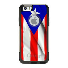 OtterBox Commuter for iPhone 5S SE 6 6S 7 Plus Red White Blue Puerto Rico Flag