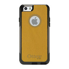OtterBox Commuter for iPhone 5 5S SE 6 6S Plus Yellow Leather Texture