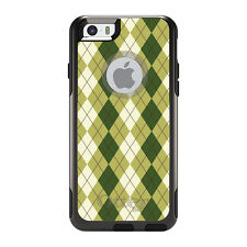 OtterBox Commuter for iPhone 5S SE 6 6S 7 Plus Green White Argyle