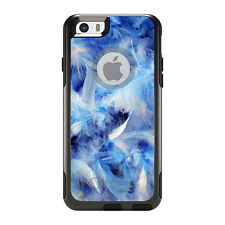 OtterBox Commuter for iPhone 5S SE 6 6S 7 Plus Blue Feathers