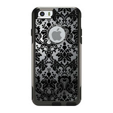 OtterBox Commuter for iPhone 5S SE 6 6S 7 Plus Silver Black Damask
