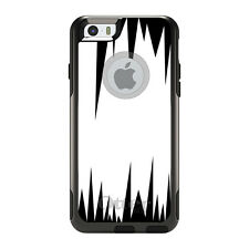OtterBox Commuter for iPhone 5S SE 6 6S 7 Plus White Black Spikes