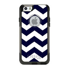 OtterBox Commuter for iPhone 5 5S SE 6 6S Plus Navy Blue White Chevron Stripes