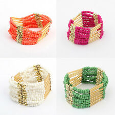 Fashion Bohemian Charming Beaded Bangle Bracelet  Multilayer Womens Jewelry Hot