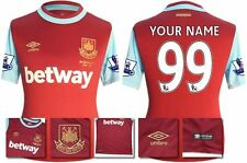 *15 / 16 - UMBRO ; WEST HAM UTD HOME SHIRT SS + PATCHES / PERSONALISED = SIZE*