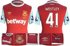 *15 / 16 - UMBRO ; WEST HAM UTD HOME SHIRT SS + PATCHES / WESTLEY 41 = SIZE*