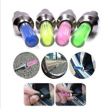 2X LED Bike Bicycle Car Motorcycle Wheel Tyre Light Tire Valve Cap Flash Lamp