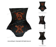 24 Double Steel Boned Waist Training Brocade Underbust Corset #H8551A(DB-BRO)