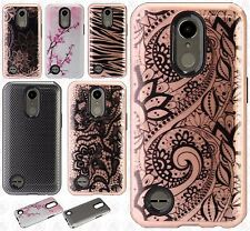 For LG K20 Plus Hard IMPACT HYBRID Protector Skin Case Phone Cover Accessory