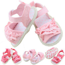 Infant Baby Summer Sandal Princess Girl Lace Soft Sole Non-slip Crib Shoes 0-18M
