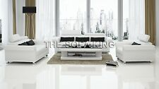T5506 Modern Sofa, Leather Lounge,  1 Couch 3 seat 2 seater. Italian black white