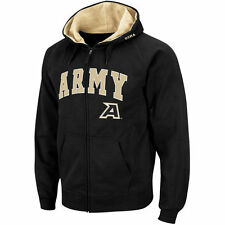 Men's Stadium Athletic Black Army Black Knights Arch & Logo Full Zip Hoodie