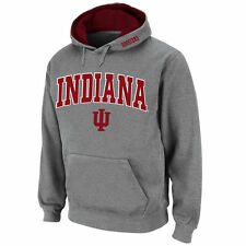 Indiana Hoosiers Stadium Athletic Arch & Logo Pullover Hoodie - Gray - College