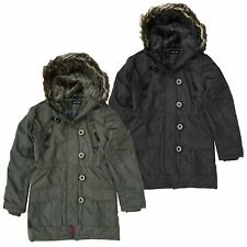 Girls Brave Soul Parka Coat 2 Colours Available Style GJK-MILITARY