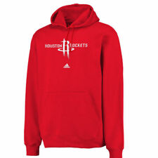 Men's adidas Houston Rockets Red Logo Pullover Hoodie Sweatshirt - NBA