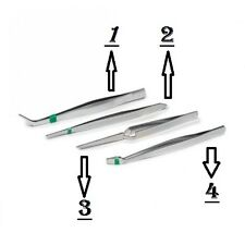 4 DIFFRENT PRECISION HOBBY TWEEZER SET CARD MODEL MAKING AIRFIX JEWELLERY MAKING