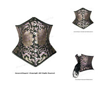 Full Double Steel Boned Waist Training Brocade Underbust Corset #HC8589(BRO)