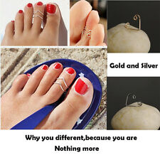 Celebrity Fashion Simple Beach Flower Design Adjustable Toe Ring Foot Jewelry