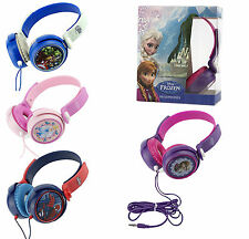 Bambini Disney principessa congelati AVENGERS SPIDERMAN PERSONAGGIO AUDIO MP3 CUFFIE