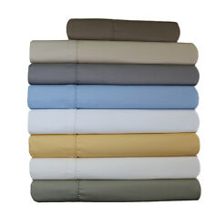 Olympic-Queen Size 650 Thread Count, Solid Blend Cotton Sheet Sets, Wrinkle Free