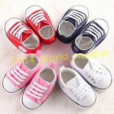 Soft Sole Crib Shoes Infant Toddler Baby Boy Girl Sneaker Newborn to 18 Months