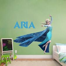 PERSONALIZED ANY NAME ELSA Disney Frozen Princess Decal Removable WALL STICKER