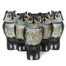 1pcs Realistic Owl Decoy Rotating Head Weed Pest Control Crow Scarer Scarecrow
