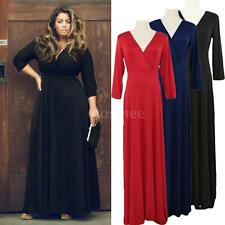 New Womens Sexy Party Cocktail Long Maxi Dress Evening Gown Plus Size L-3XL 3T75