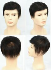 100% unprocessed human hair replacement system mens mono toupee top piece topper