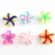 20mm Mixed Polymer Fimo 5-Leaves Clay Flower Spacer Beads -Fast Postage