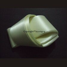"""Select IVORY 50mm 2"""" Wide Double Face Satin Ribbon Woven Edge Wedding Car Craft"""
