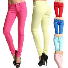 TheMogan Low Rise Colored Stretch Ankle Skinny Jeans Casual Jeggings