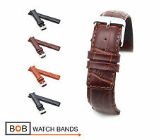 BOB Alligator Style Watch Band/Strap for IWC, 20, 21 & 22 mm, 4 colors, new!