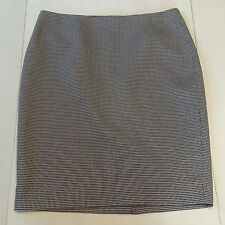 THE LIMITED Women's Black & White Checkered Pencil Skirt Size 14