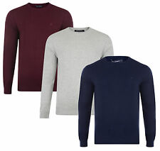 French Connection New Men's Regular Fit Cotton Blend Crew Neck Jumper Sweater