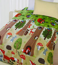 The Big Tree Animal Bear Glow In The Dark Quilt Doona Cover Set - SINGLE DOUBLE