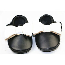 Mix Color Leather Cute Bow Baby Girls Toddler Infant Moccasins Tassel Shoes 0-2Y
